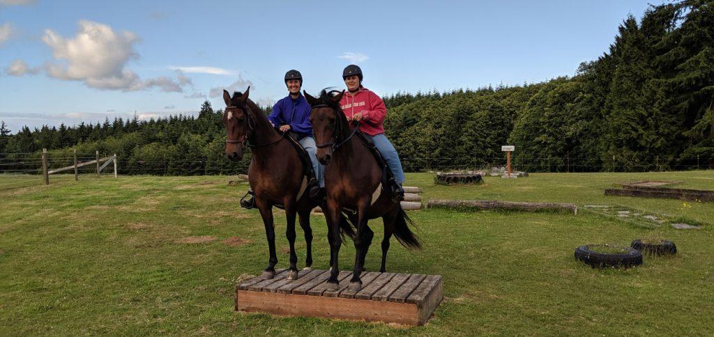 Marti and Teresa on horses