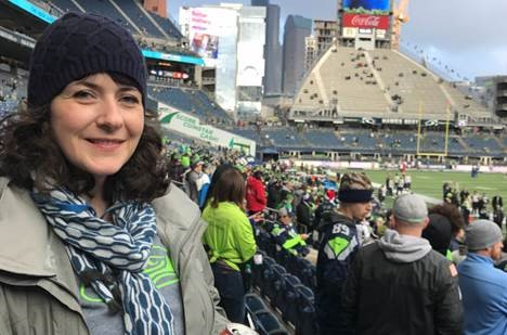 Alex at Seahawks game