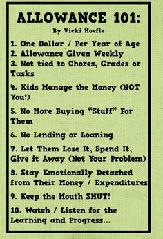 Allowance rules