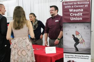 Ian and Liz attend the recent Clatsop County Career & Job Fair