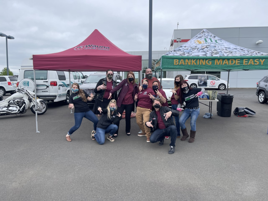 Group of Fibre and Wauna Credit Union employees