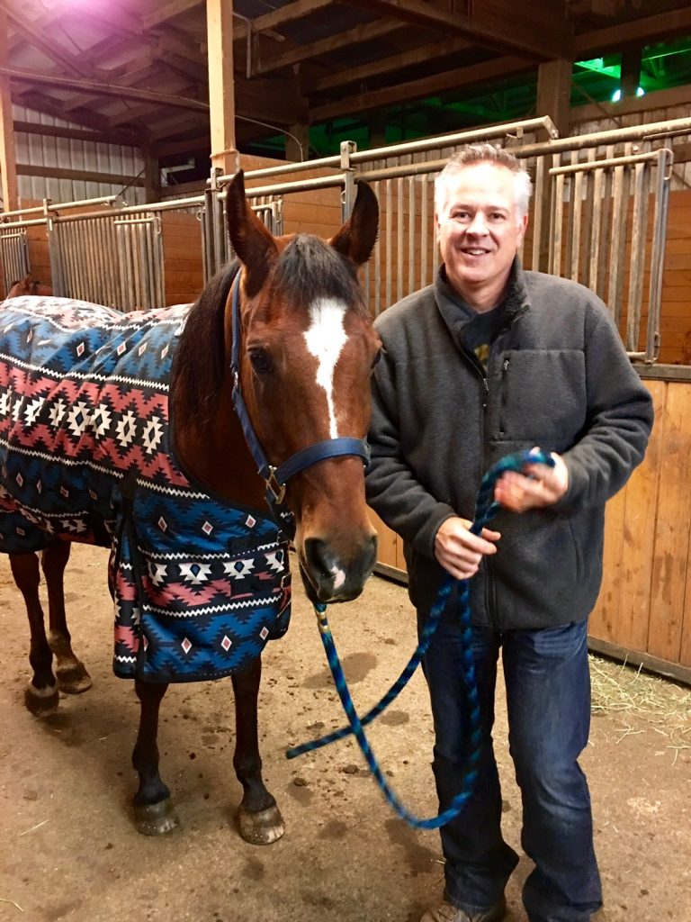 Mark and horse