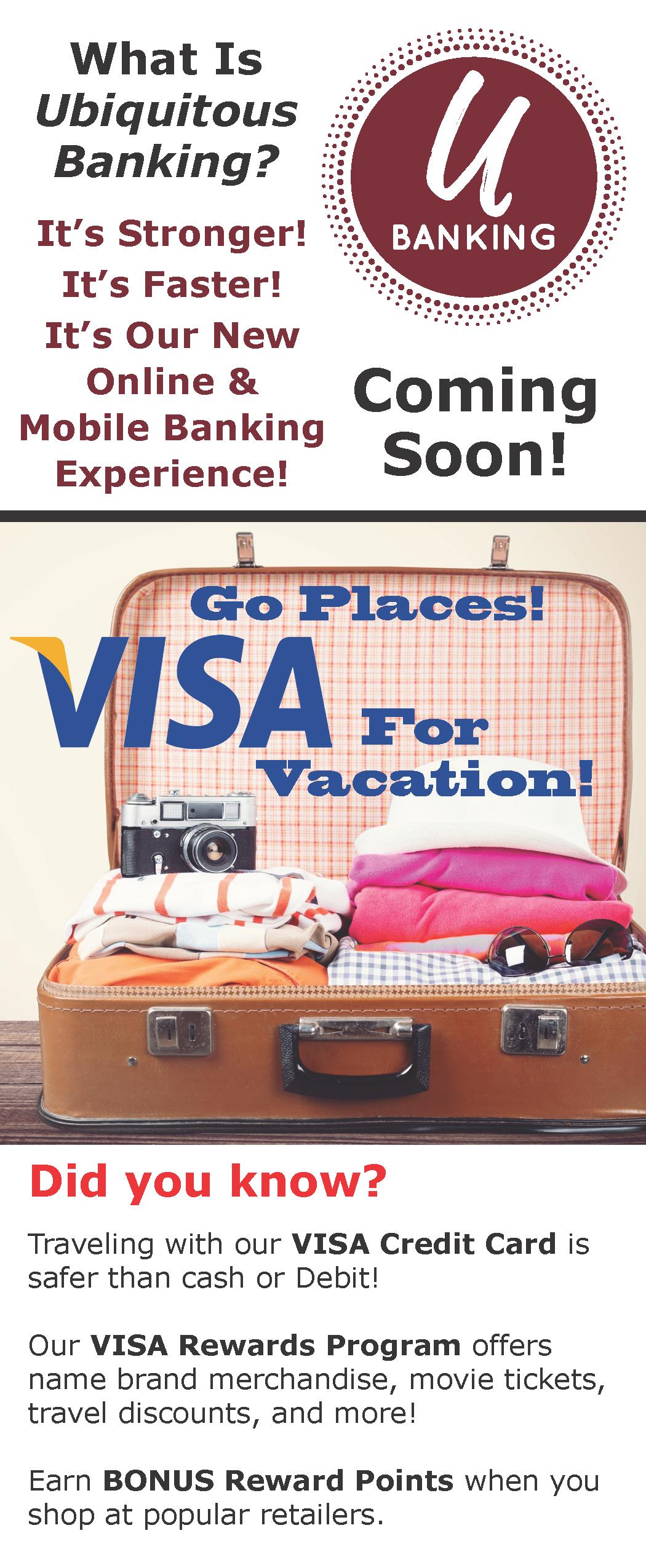 Insert Page 2 U-Banking Visa