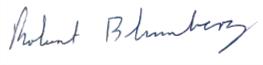 Robert Blumberg Signature