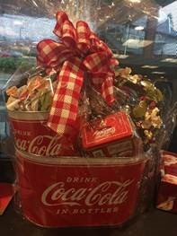 coca cola basket- Those who contribute $5 can chose to win this gift basket, donated from Colvins. The drawing will be held on December 18th.