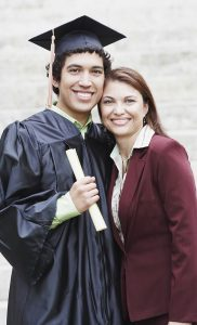 Mother with Son on Graduation Day