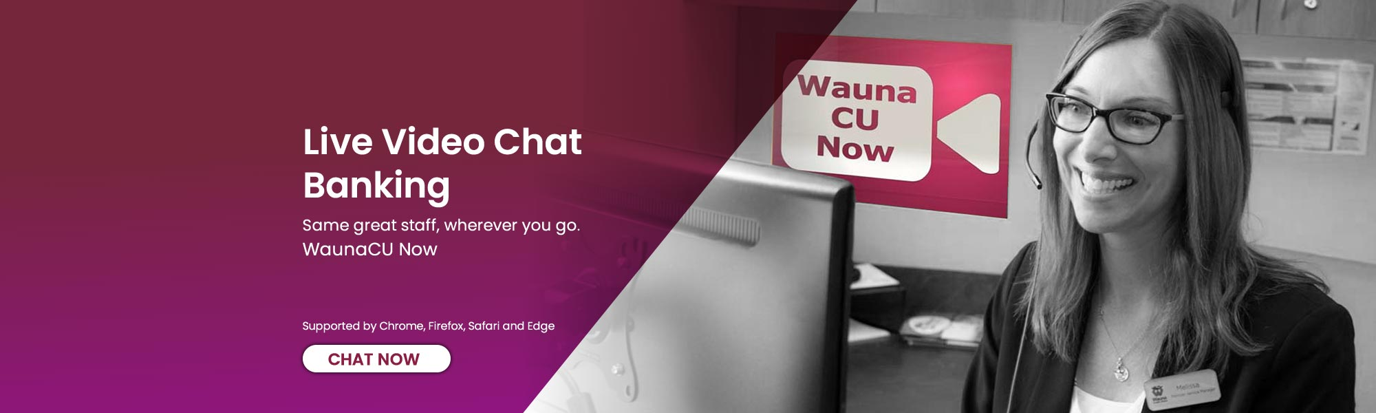 Link to Wauna CU Now video chat